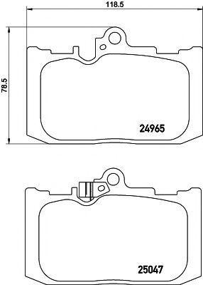 Комплект тормозных колодок, дисковый тормоз PAGID T2192
