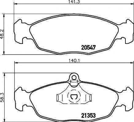 Комплект тормозных колодок, дисковый тормоз PAGID T1045