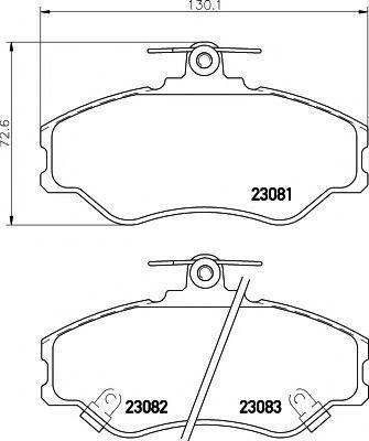 Колодки тормозные PAGID T3036