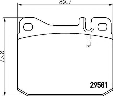 Комплект тормозных колодок, дисковый тормоз PAGID C5006
