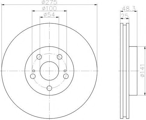 Тормозной диск PAGID 50375