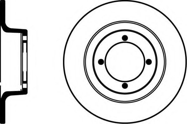 Тормозной диск PAGID 53201