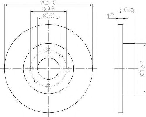 Тормозной диск PAGID 50908