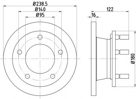 Тормозной диск PAGID 52110