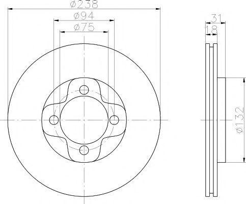 Тормозной диск PAGID 52009