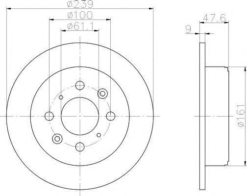 Тормозной диск PAGID 51122
