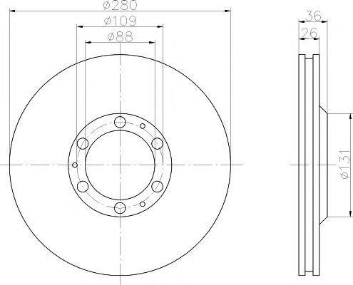 Тормозной диск PAGID 52429