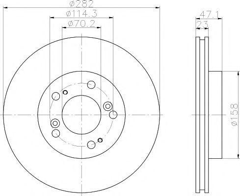 Тормозной диск PAGID 50287