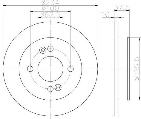 Тормозной диск PAGID 54472