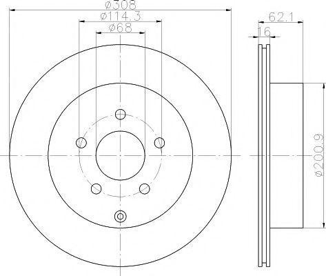 Тормозной диск PAGID 54493
