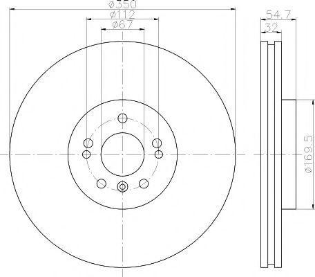 Тормозной диск PAGID 54507