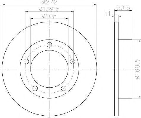 Тормозной диск PAGID 51702