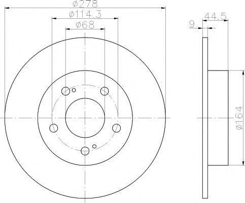Изображение Тормозной диск PAGID 54131: купить