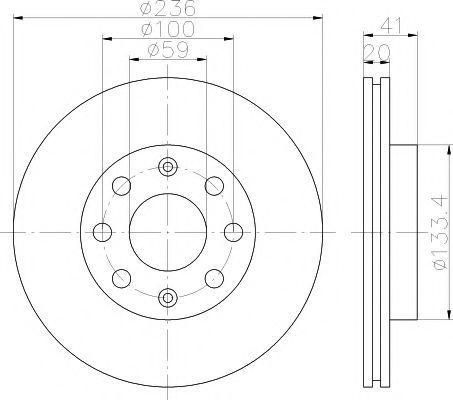 Тормозной диск PAGID 54334