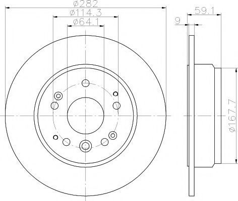 Тормозной диск PAGID 55617