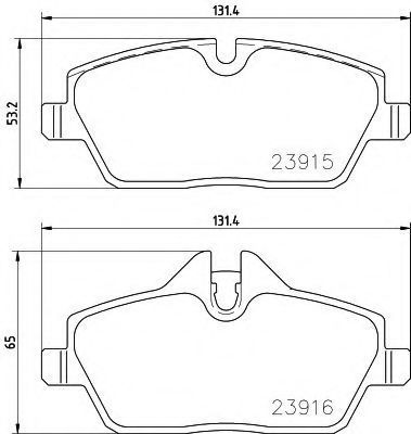 Комплект тормозных колодок, дисковый тормоз PAGID T2398