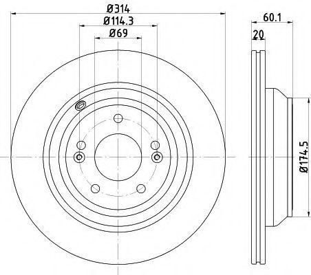 Тормозной диск PAGID 55737
