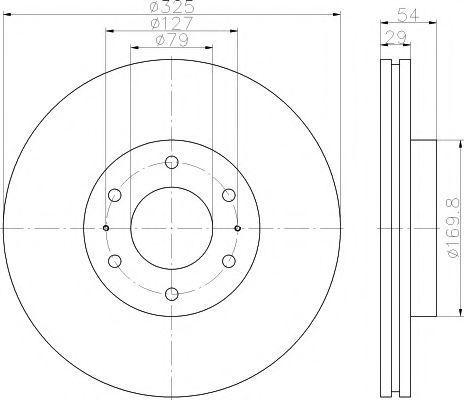 Тормозной диск PAGID 55262