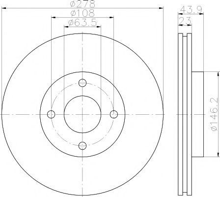 Тормозной диск PAGID 55524