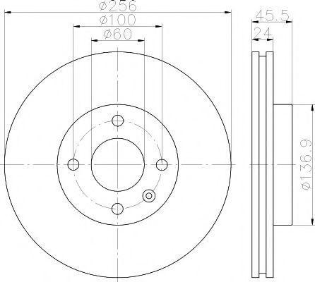 Тормозной диск PAGID 55414