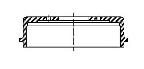 Тормозной барабан METELLI 180389