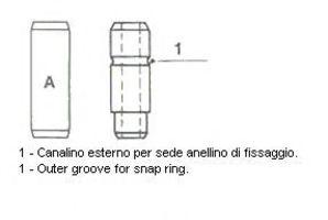 Направляющая втулка клапана впускного METELLI 01-0108