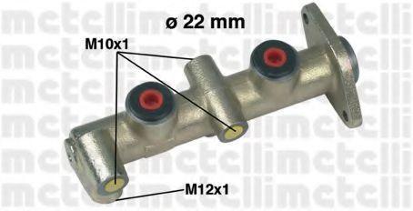 Цилиндр тормозной главный METELLI 05-0097