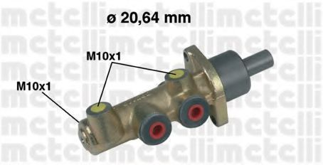 Главный тормозной цилиндр METELLI 050218