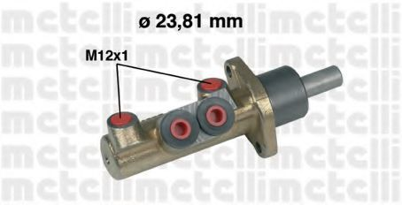 Цилиндр тормозной главный METELLI 05-0311