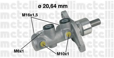 Цилиндр главный тормозной METELLI 050346