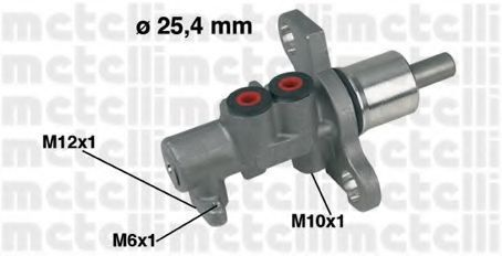 Цилиндр тормозной главный METELLI 05-0368