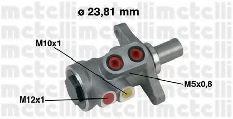Цилиндр тормозной главный METELLI 05-0448