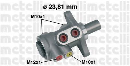 Цилиндр тормозной главный METELLI 05-0455