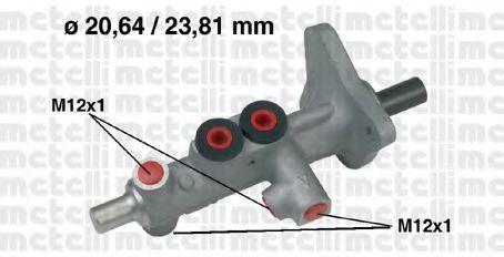 Цилиндр главный тормозной METELLI 050627