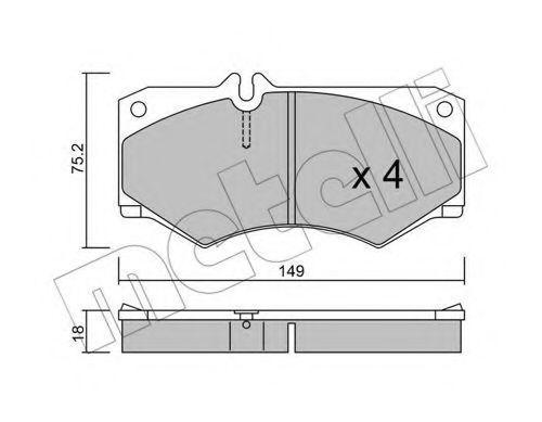 Колодки тормозные METELLI 2200140
