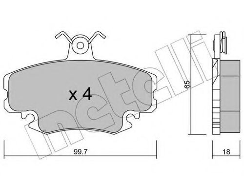 Комплект тормозных колодок, дисковый тормоз METELLI 2201200