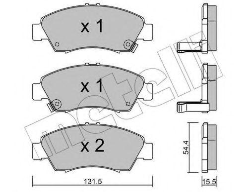 Колодки тормозные METELLI 2201380