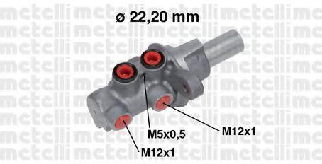 Главный тормозной цилиндр METELLI 050686