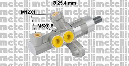 Главный тормозной цилиндр METELLI 050811