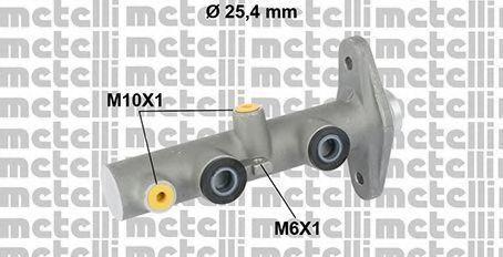 Главный тормозной цилиндр METELLI 050822