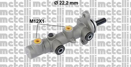 Главный тормозной цилиндр METELLI 050825