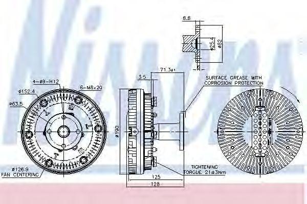 Сцепление, вентилятор радиатора NISSENS 86038