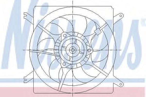 Вентилятор радиатора NISSENS 85002