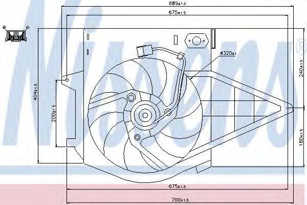 Вентилятор радиатора NISSENS 85003