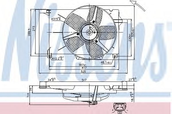 Вентилятор радиатора NISSENS 85005