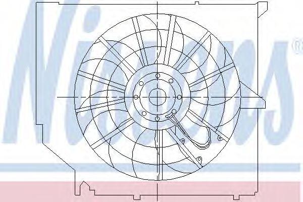 Вентилятор, конденсатор кондиционера NISSENS 85009