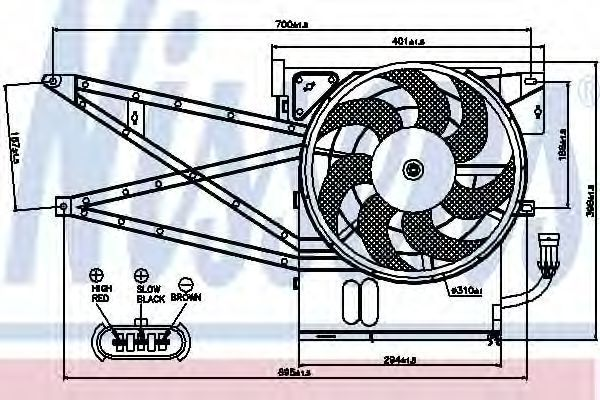 Вентилятор радиатора NISSENS 85017