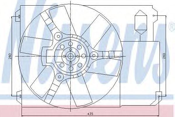 Вентилятор радиатора NISSENS 85020