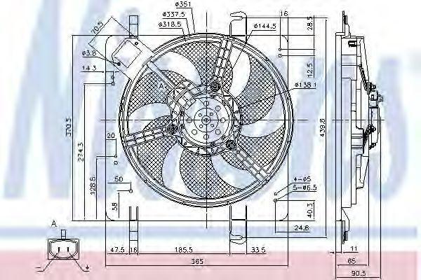 Вентилятор радиатора NISSENS 85028