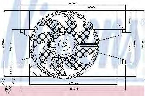 Вентилятор радиатора NISSENS 85029